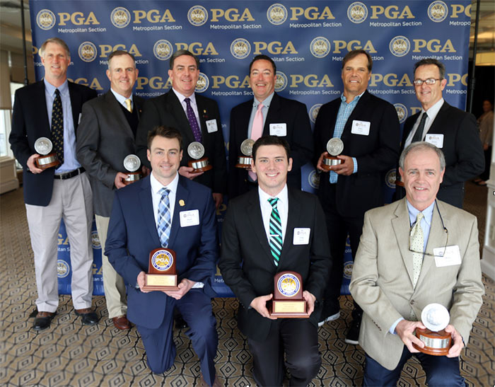 PGA Member Milestone winners with plaques