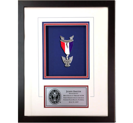 Eagle Scout shadow box espresso frame