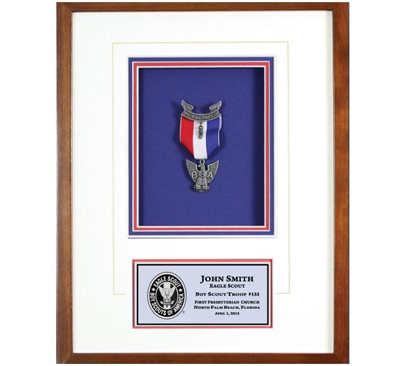 Eagle Scout shadow box wood frame