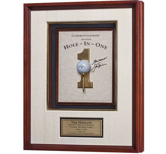 Jack Nicklaus Autographed Hole-In-One Plaque